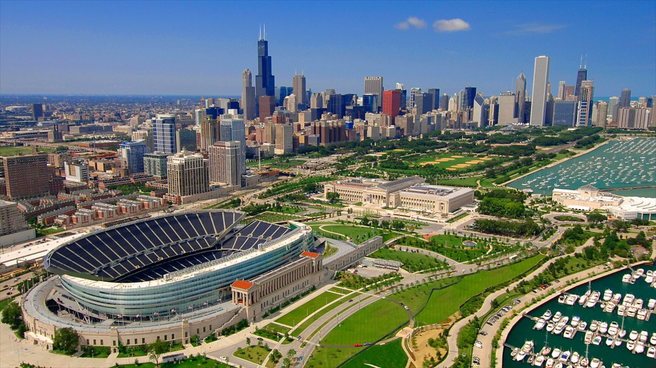 soldier field chicago illinois attraction. Black Bedroom Furniture Sets. Home Design Ideas