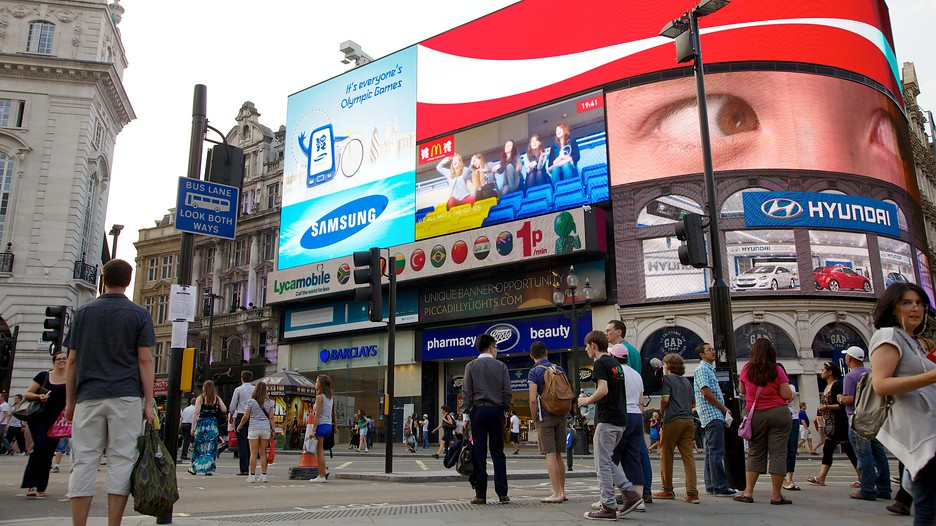 Piccadilly circus in london for Time square londra