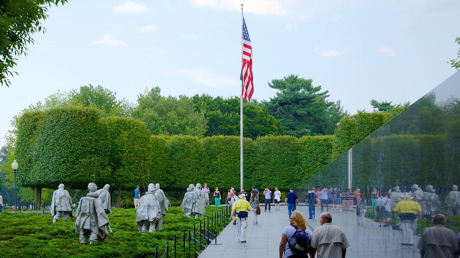 Korean War Veterans Memorial In Washington District Of