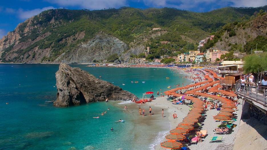 The beach in Monterosso al Mare, in the Cinque Terre
