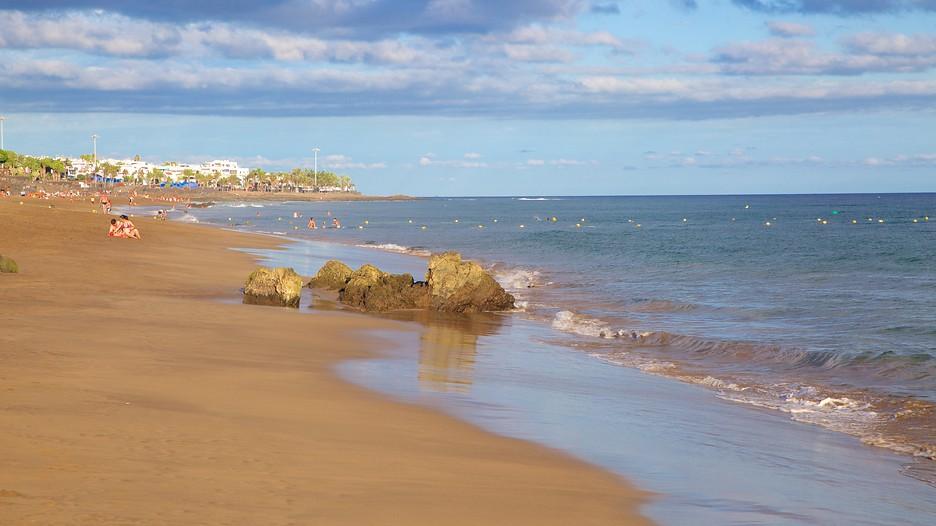 Puerto del carmen beach in tias - Car rental puerto del carmen ...