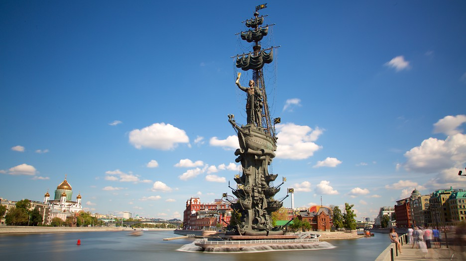 Резултат слика за peter the great statue moscow