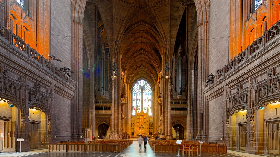 Liverpool Anglican Cathedral In Liverpool England