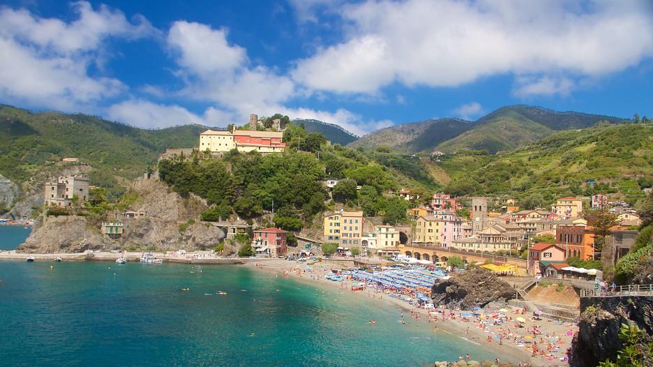 Beach. Monterosso al mare. Cinque Terre. Liguria. Italy