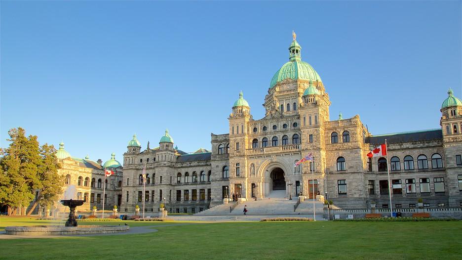 British Columbia Parliament Building In Victoria British
