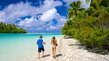 Showing item 68 of 90. One Foot Island Beach - Cook Islands - Tourism Media