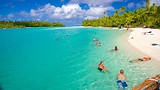 Showing item 81 of 90. One Foot Island Beach - Cook Islands - Tourism Media