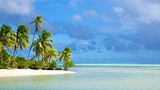 Showing item 82 of 90. One Foot Island Beach - Cook Islands - Tourism Media