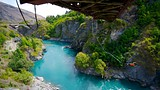 Showing item 20 of 90. Kawarau Suspension Bridge - Queenstown - Tourism Media