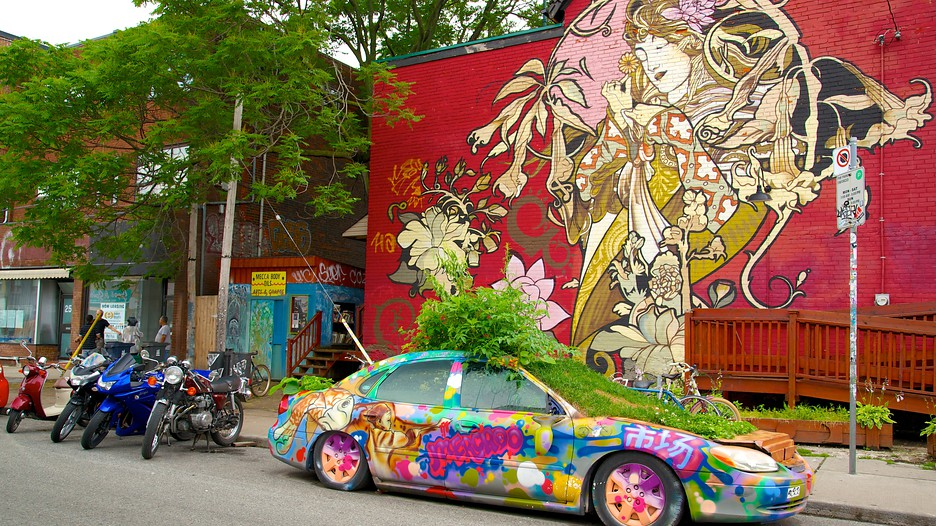Beautiful graffiti mural found in Kensington Market