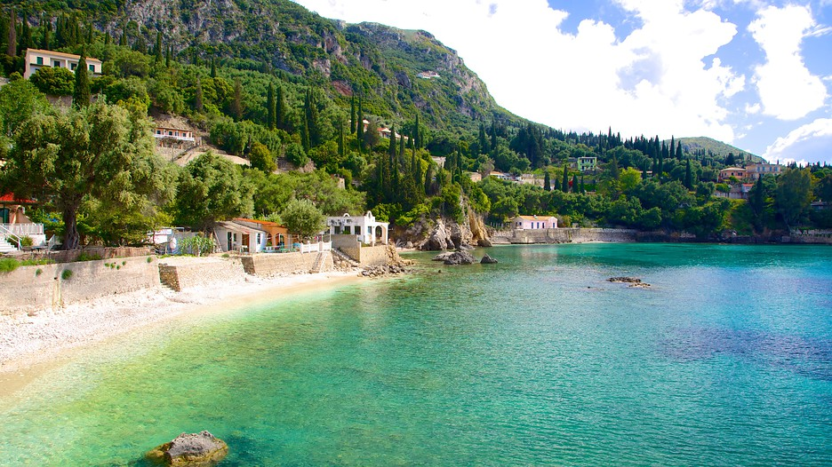 Paleokastritsa Beach in Corfu,  Expedia
