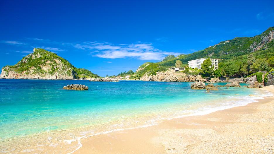Paleokastritsa Beach in Corfu,  Expedia