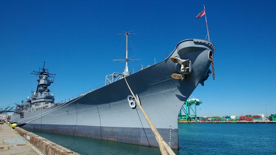 USS Iowa in San Pedro California – Iowa Tourist Attractions Map