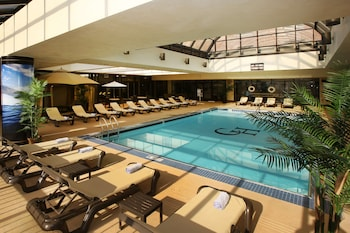 Indoor pool, open 8:00 AM to midnight, free cabanas, sun loungers