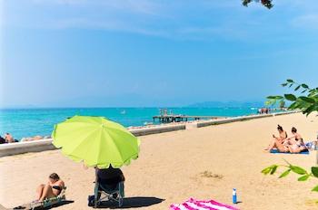 On the beach, beach bar