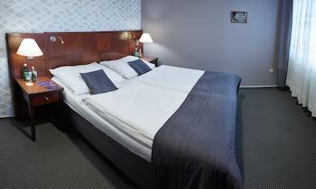Premium-sengetøj, minibar, pengeskab, skrivebord