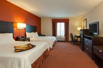 Premium bedding, blackout drapes, iron/ironing board