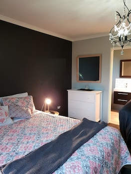 Blackout curtains, free WiFi, linens