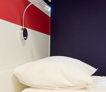 Skrivbord, gratis wi-fi och sängkläder