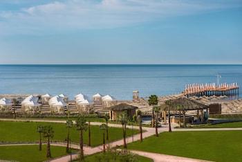Privat strand i närheten och gratis transport till/från stranden